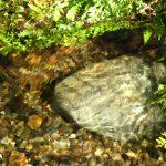 water heart rocks
